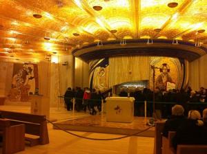 La cripta custode della spoglie del Santo
